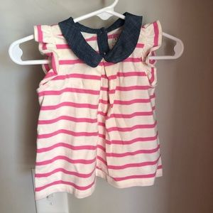 Gap striped shirt baby girl